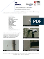 Water Intrusion Problems Related to Unsealed Stucco Penetrations