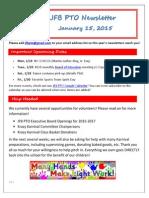 JFB PTO Newsletter 1-15-15