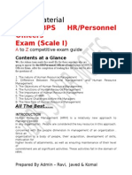 Ibps So Hr Notes new