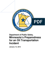 Mn Preparedness Oil Transportation Incident Report