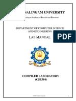 Cse384 Compiler Design Laboratory Lab Manual