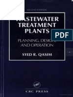 Waste Water Treatment Plants Planning Design and Operation Second Edition by Syed R Qasim