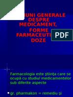 Notiuni Generale Despre Medicament, Forme Farmaceutice, Doze
