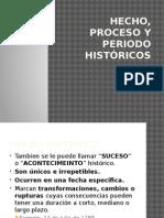 Hecho, Proceso y Periodo Históricos