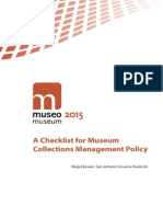 A Checklist for Museum Collections Management Policy - 2015
