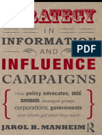 Strategy in Information and Influence Campaigns