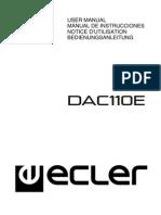 Distribuidor de Audio ECLER DAC110E Manual de Instrucciones