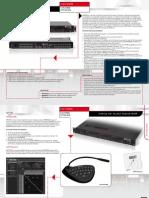Matriz de Audio ECLER MIMO 88 Características Principales
