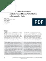 2012S Arab American Teachers Stutter Attitudes