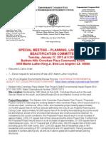 ECWANDC PLUB Committee Meeting - January 27, 2015