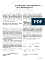 Synthesis, Characterization and Antimicrobial Studies of Tosyl Esters of Carboxylic Acid