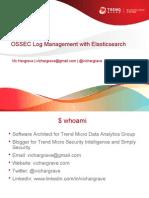 OSSEC Log Mangement With Elasticsearch