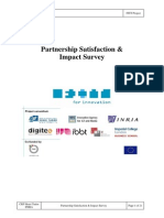 Partnership Satisfaction Impact Survey Final