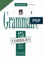 Delatour - Les 350 Exercices Grammaire Moyen - Corriges (1996)