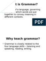 Review the Teaching of Grammar