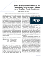 Effects of Procurement Regulations on Efficiency of the Procurement of Foodstuffs in Public Secondary Schools in Kenya - A Survey of Nyaribari Chache Constituency