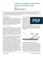 On absorption and scattering coefficient effects in modellisation software