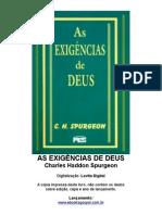 As Exigências De Deus - Charles H. Spurgeon
