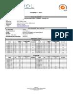 Informe laboratorio ASEBIOL Planta de Tratamiento de Avguas Residuales de La Calera.
