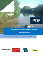 La Gestion Qualitative Des Eaux Pluviales