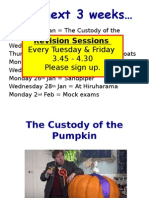 the custody of the pumpkin - characters setting language