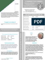 St Benedict's Newsletter 77