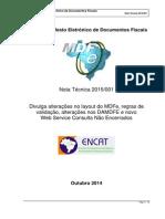MDFe Nota Tecnica 2015 001