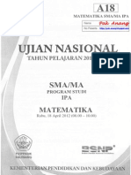 Pembahasan Soal UN Matematika SMA Paket A
