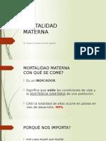 Mortalidad Materna Presentacion