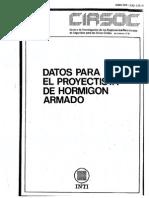 CIRSOC - Datos Para El Proyectista de Hormigón Armado