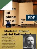 modelul planetr al atomului