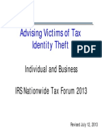 2013 NTF Advising Victims of Tax Identity Theft