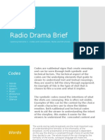 radio drama brief