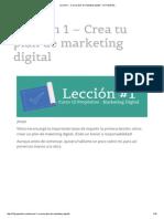 Crea Tu Plan de Marketing Digital