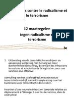 Maatregelen tegen radicalisme en terrorisme