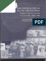 Larissa Adler Lomnitz_Una Familia de La Elite Mexicana