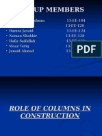 Role of Columns in Construction.....