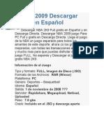 NBA 2009 Descargar Full en Español