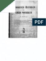 GrammaticaHistoricaDaLinguaPortugueza Text