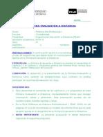 Primera Evaluación a Distancia practicas pre profesionales - Pead