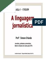 Aula 1 a Linguagem Jornalistica[1]
