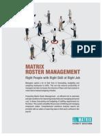 Matrix COSEC Roster Brochure V1R1