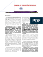 Manifiesto Mundial de Educación Física 2000