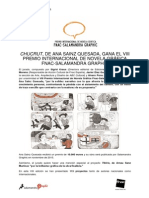 Ganador VIII Premio Internacional Fnac-Salamandra Graphic