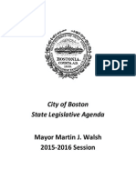 City of Boston State Legislative Agenda