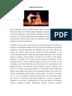 Historia de La Danza