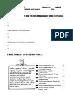 Examen Ingles 6º Tema 2