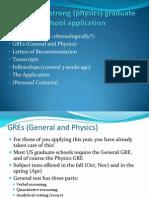 Grad School Applications