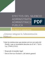 Efect o Silencio Administr a Tivo