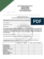 ASP Recommendation Form